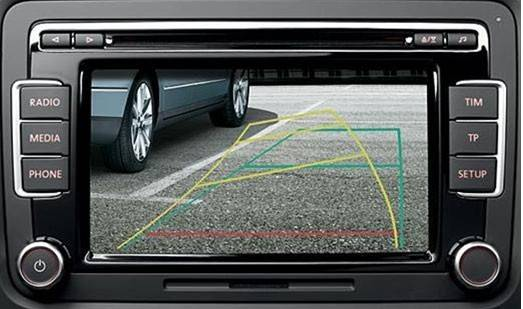 OEM VW back up rear view camera with built-in ipas function