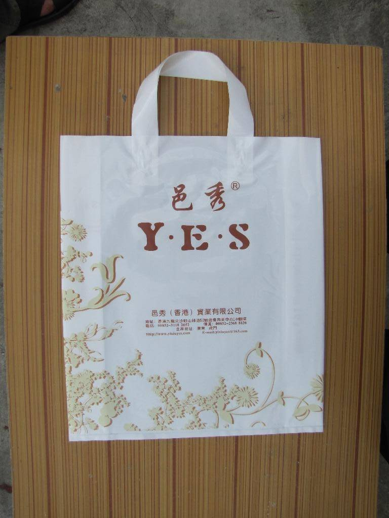 famous products made in China Square bottom die cut handle shoping plastic bag