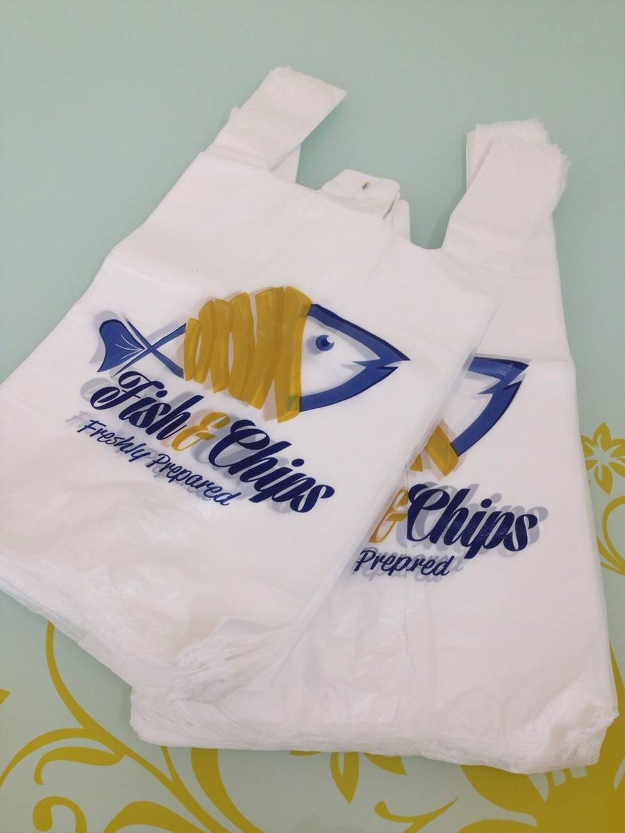 Vest type carrier plastic bag manufacturer singlet bag