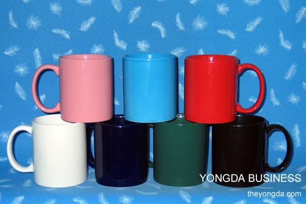 glazed color stoneware / ceramic / porcelain mugs / cups / drinkware