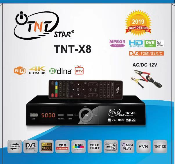 TNT STAR TNT X8 HD DVB-T2+S2 IPTV AC/DC12V BOX
