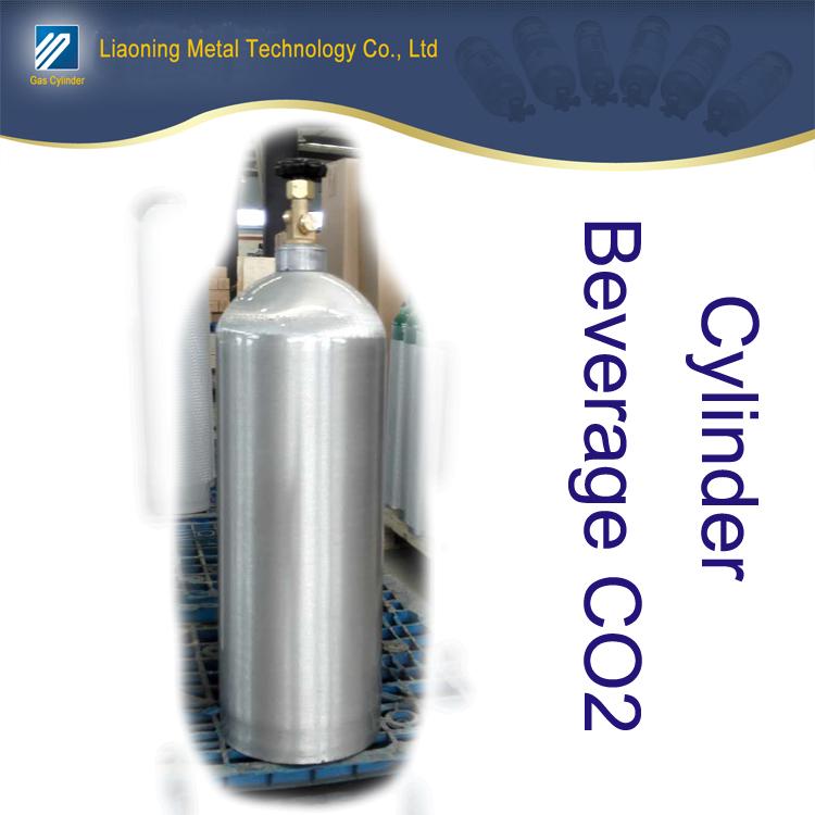 Metal aluminum CO2 beverage cylinder