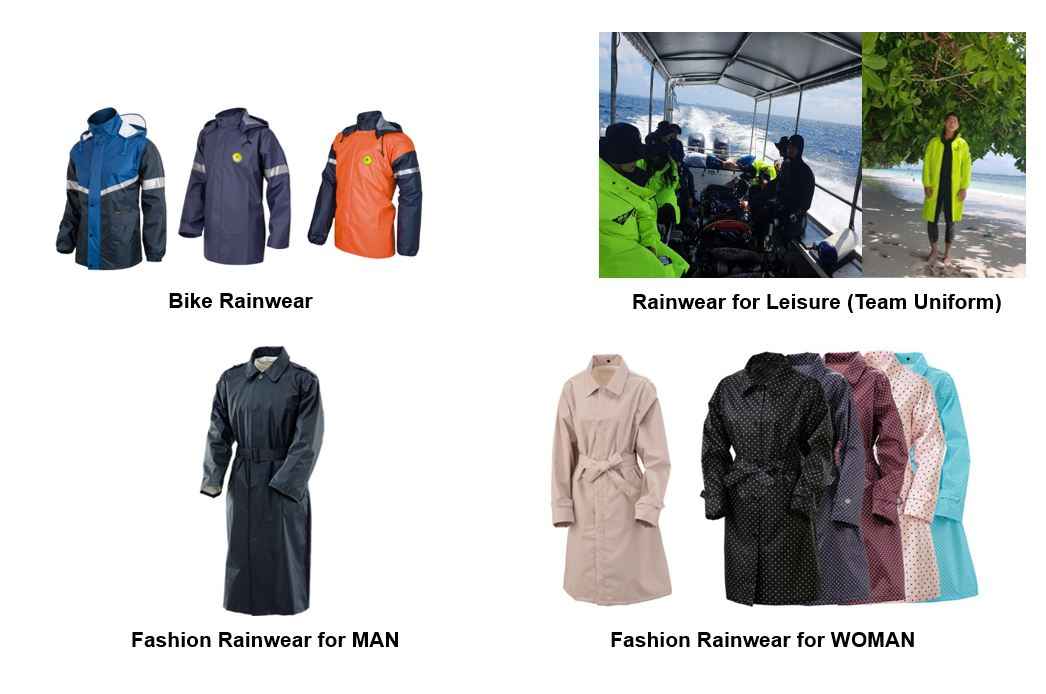 Water-Proof and breathable rainwear (for Industry)