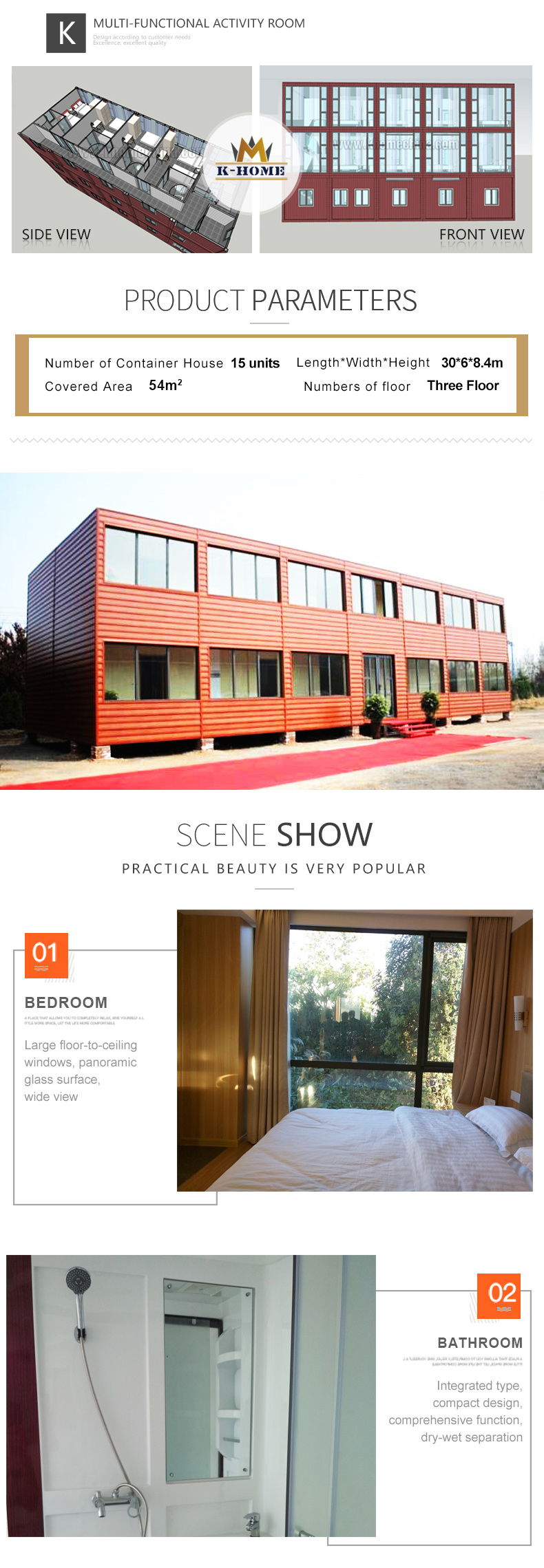 Modern Luxury Container House for High End Hotel