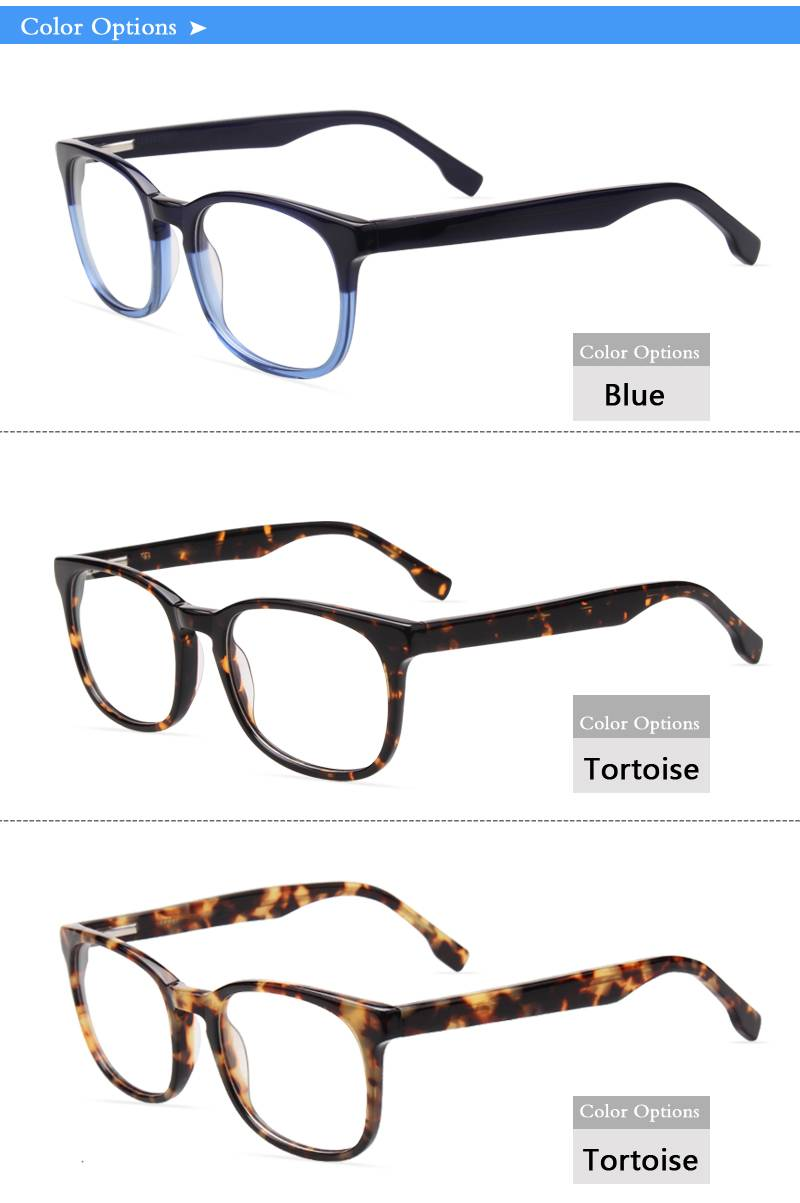 Fashion design acetate eyeglass optical frame JC9031