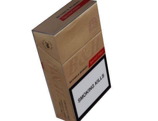 cigarette packet box/paper cigar box/cigarette box folding