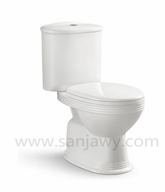 New White Ceramic Bathroom Toilet,Two Piece Bathroom Toilet