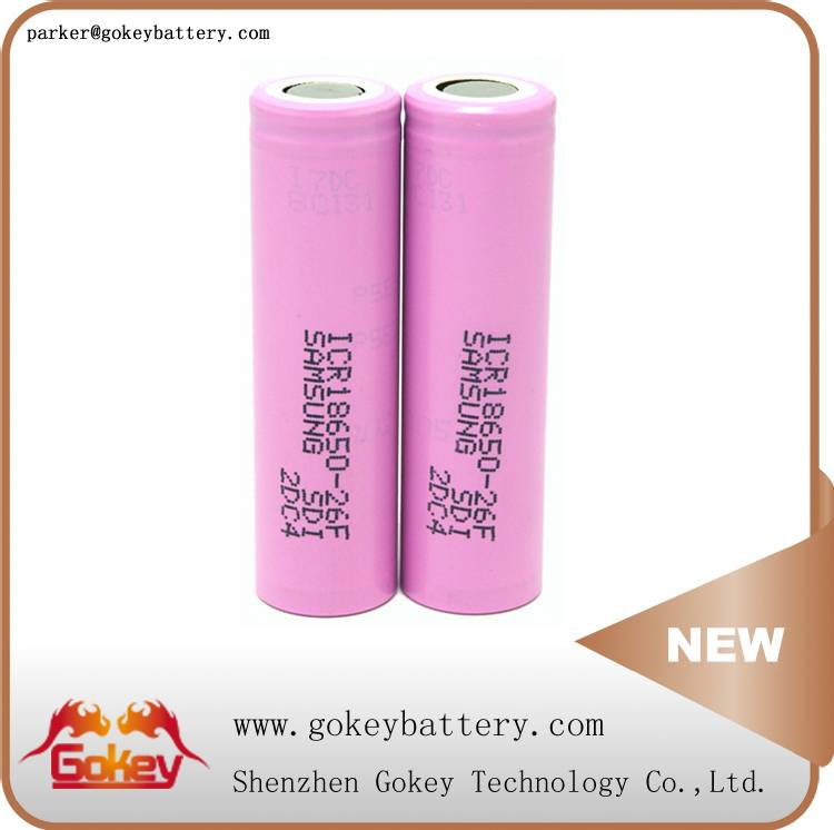 Samsung 26F ICR18650-26F 2600mah 3.7v 2C li-ion 18650 battery in battery stores
