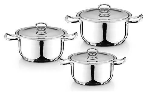 Stainless Steel Pot Pan and Cookware Set