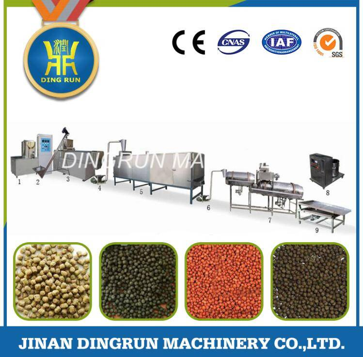 fish feed pellet production extruder