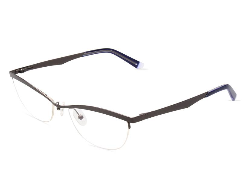 Fashion design flexible super light weight stainless steel metal optical frame JC8020