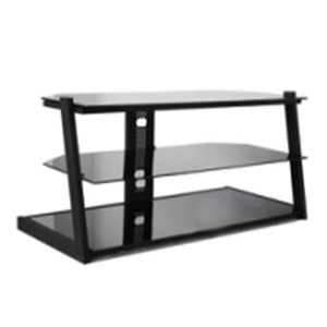 black fashion modern glass tv stand