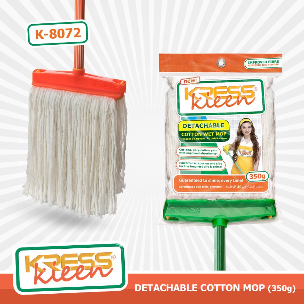 KRESS Kleen Detachable Cotton Wet Mop