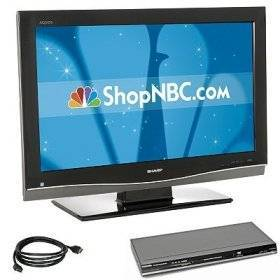 "Sharp AQUOS 32"" 1080p LCD HDTV Package"
