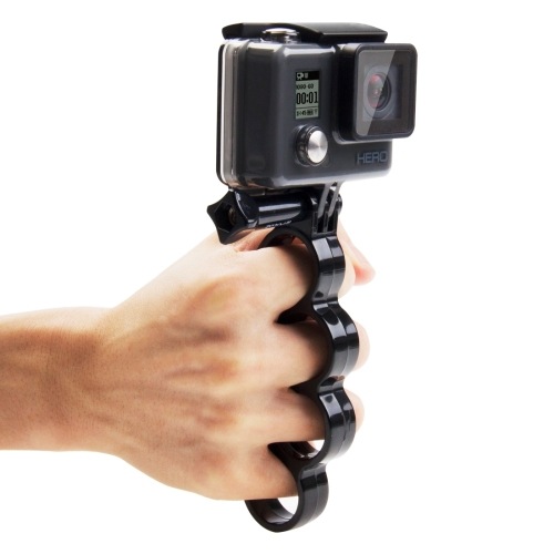 PULUZ Handheld Plastic Knuckles Fingers Grip Ring Monopod Tripod Mount with Thumb Screw for GoPro