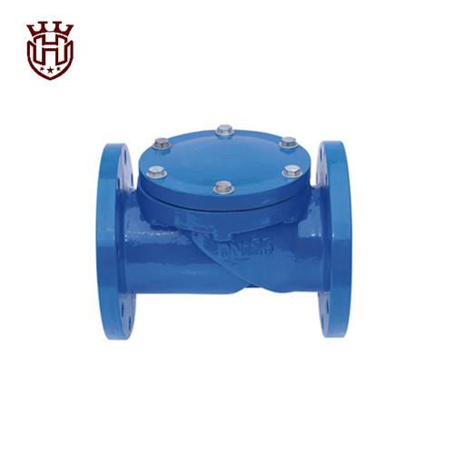 Flexible rubber disc check valve