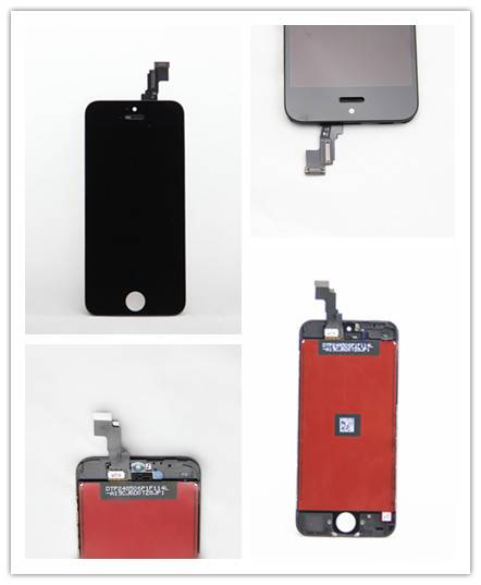 For Apple iPhone 5C LCD Screen and Digitizer Assembly with Frame Black