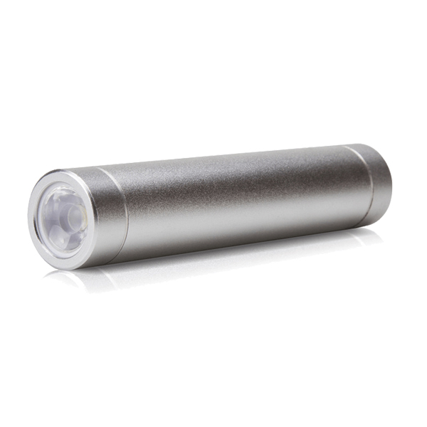 Wholesale led torch light portable power bank 2600mah rohs battery charger