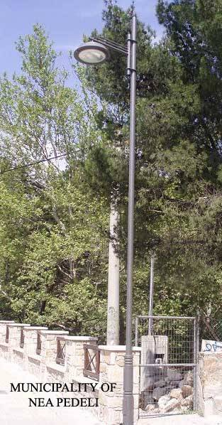 lamp post with street lighting