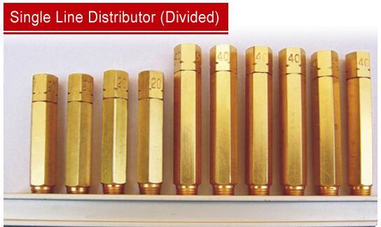 divided single line lubrication system distributor