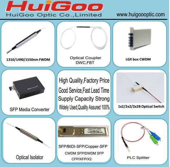 1x2 FWDM Modules 1310/1490/1550nm Filter Type WDM Multiplexer