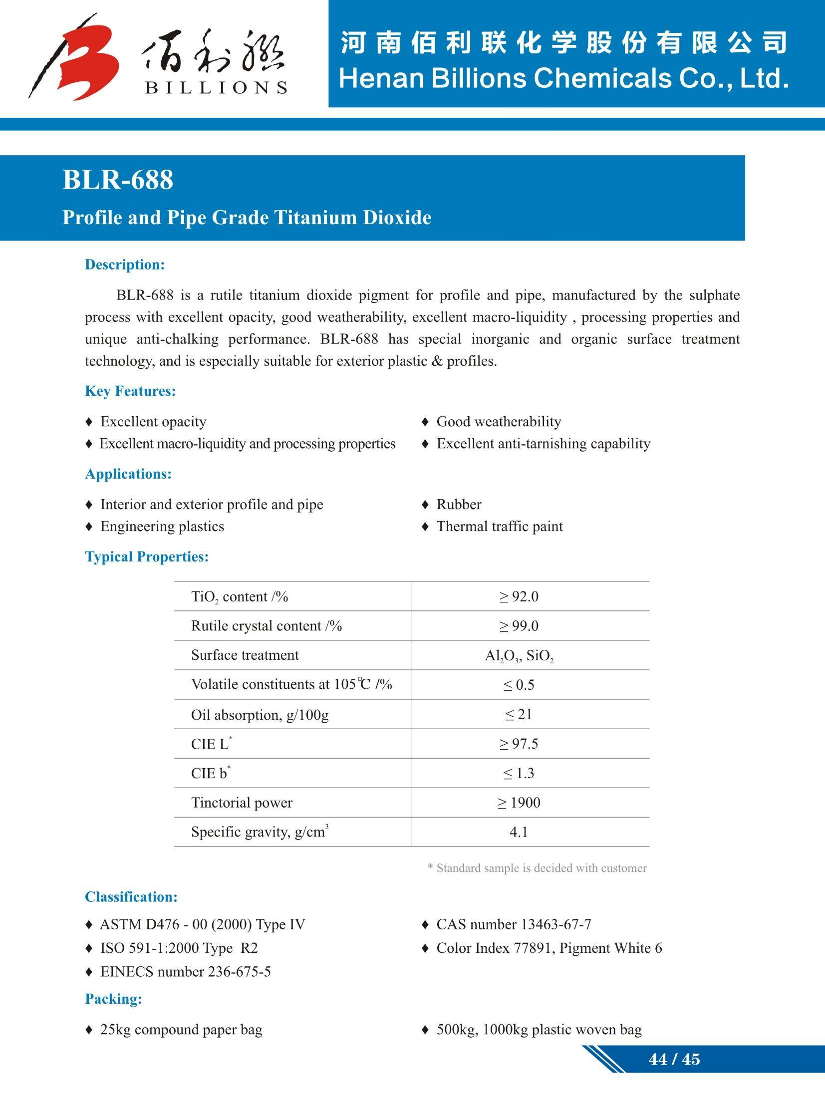 Titanium Dioxide BLR-688