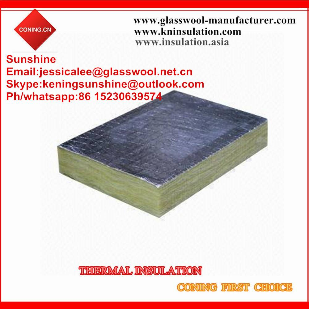 Heat insulation rock wool price/rock wool with aluminum foil
