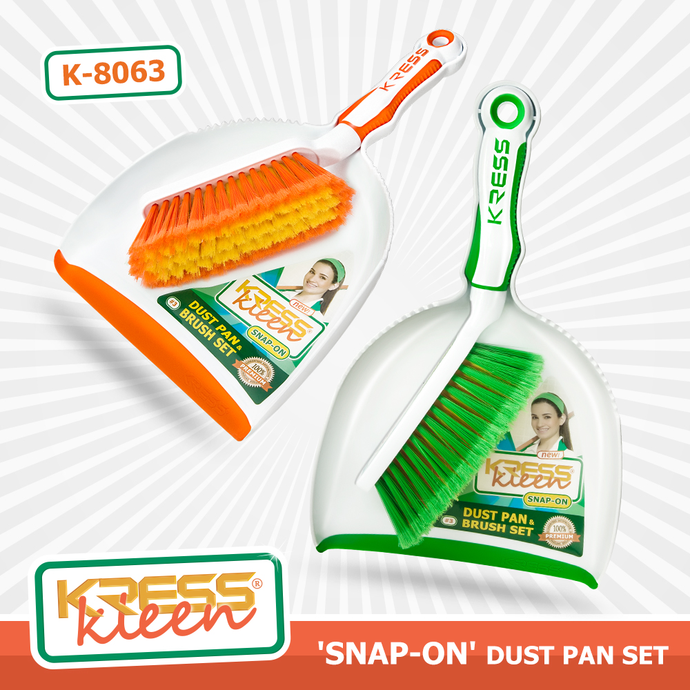 KRESS Kleen 'Snap- On' Dust Pan&Brush Set