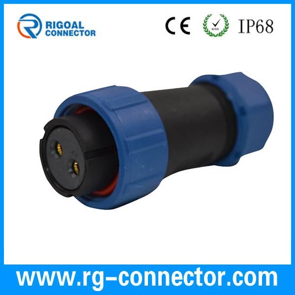 IP67 weipu same type plastic waterproof male female gender 9-pin connector