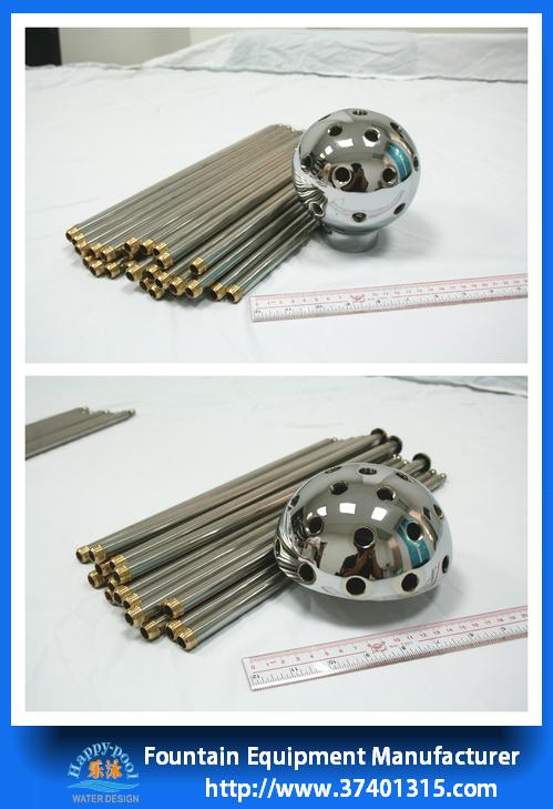 stainless steel fountain equipments crystal ball nozzle water fountain