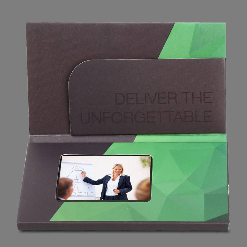 "high-end and creative 2.4 "" business video greeting card"