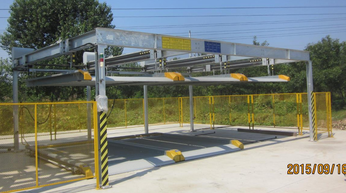 2 levels vertical horizontal car parking system