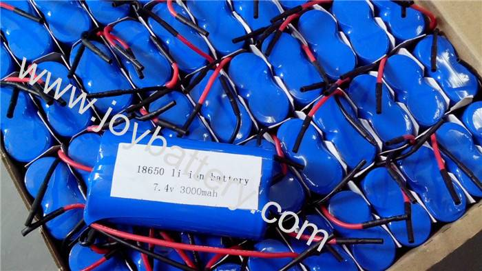 2S 18650 lithium battery 3000mah li-ion rechargeable battery pack 7.4v battery