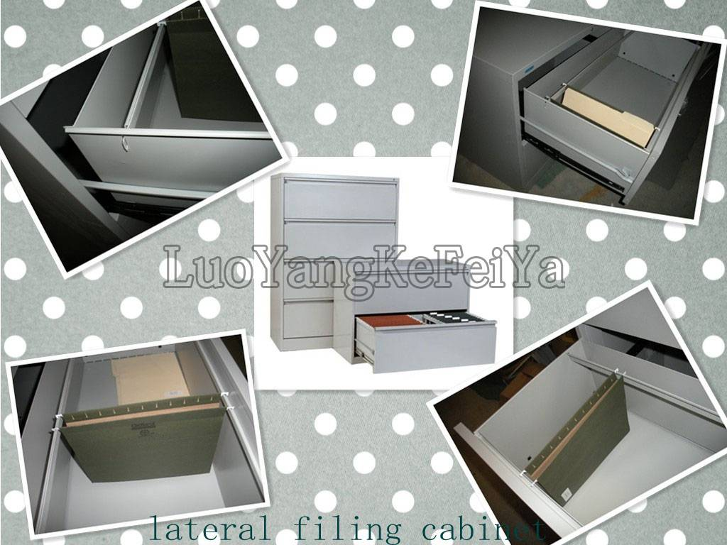 3 drawers steel lateral filing cabinet
