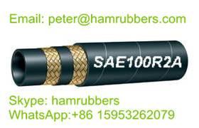 SAE 100R2A/DIN EN853 2ST Wire Braided Hydraulic Hose