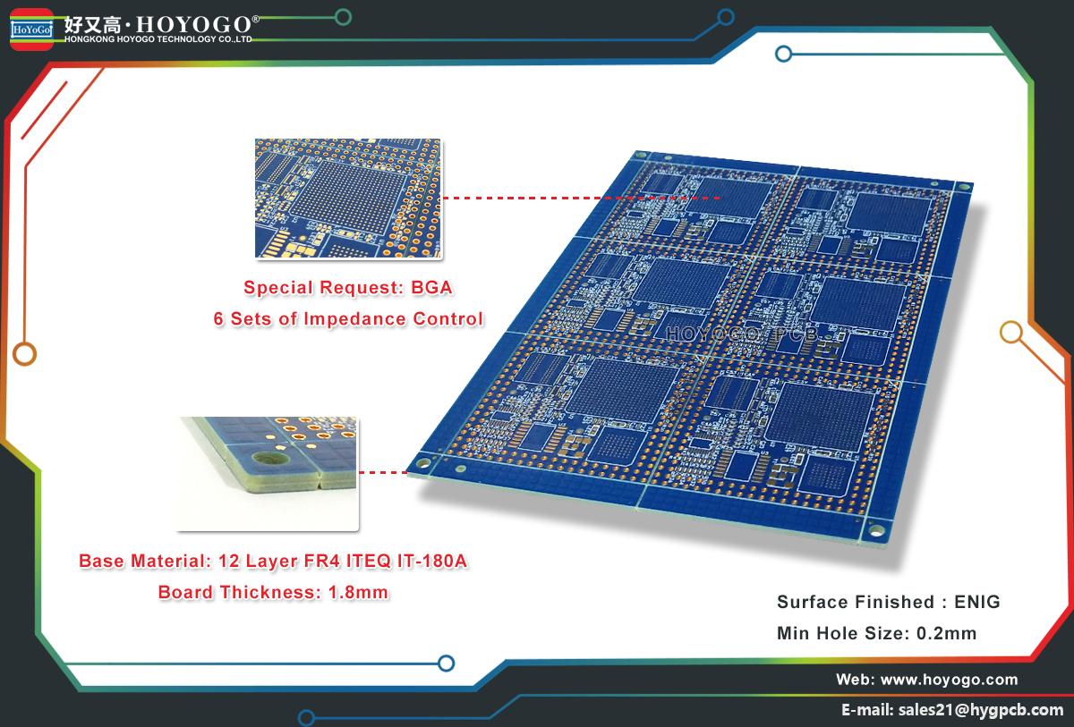 12 Layer Rigid PCB - HOYOGO PCB Manufacturer