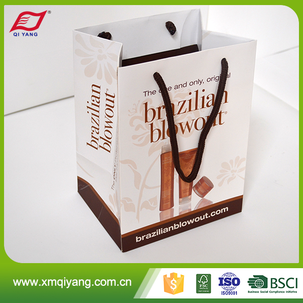 China supplier cheap luxury white paper shopping bag