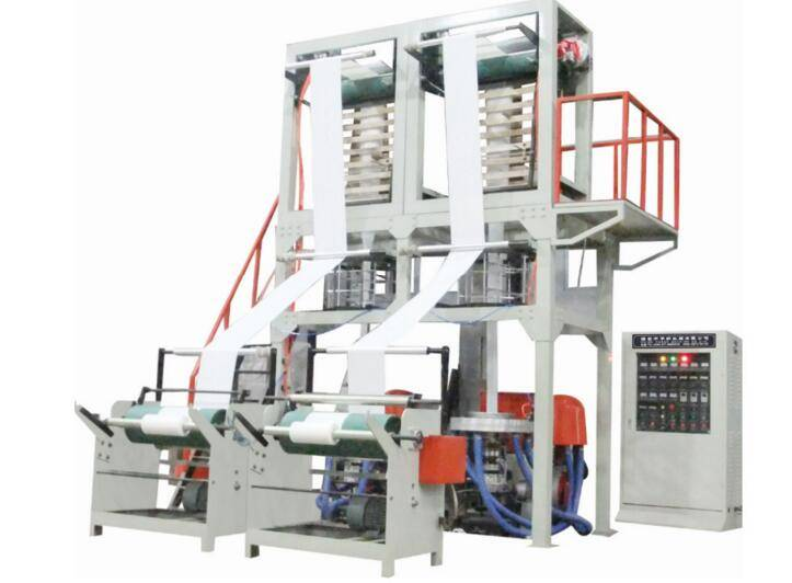 LDPE/HDPE LC-SJ55-FM700 DOUBLE HEAD FILM BLOWING MACHINE