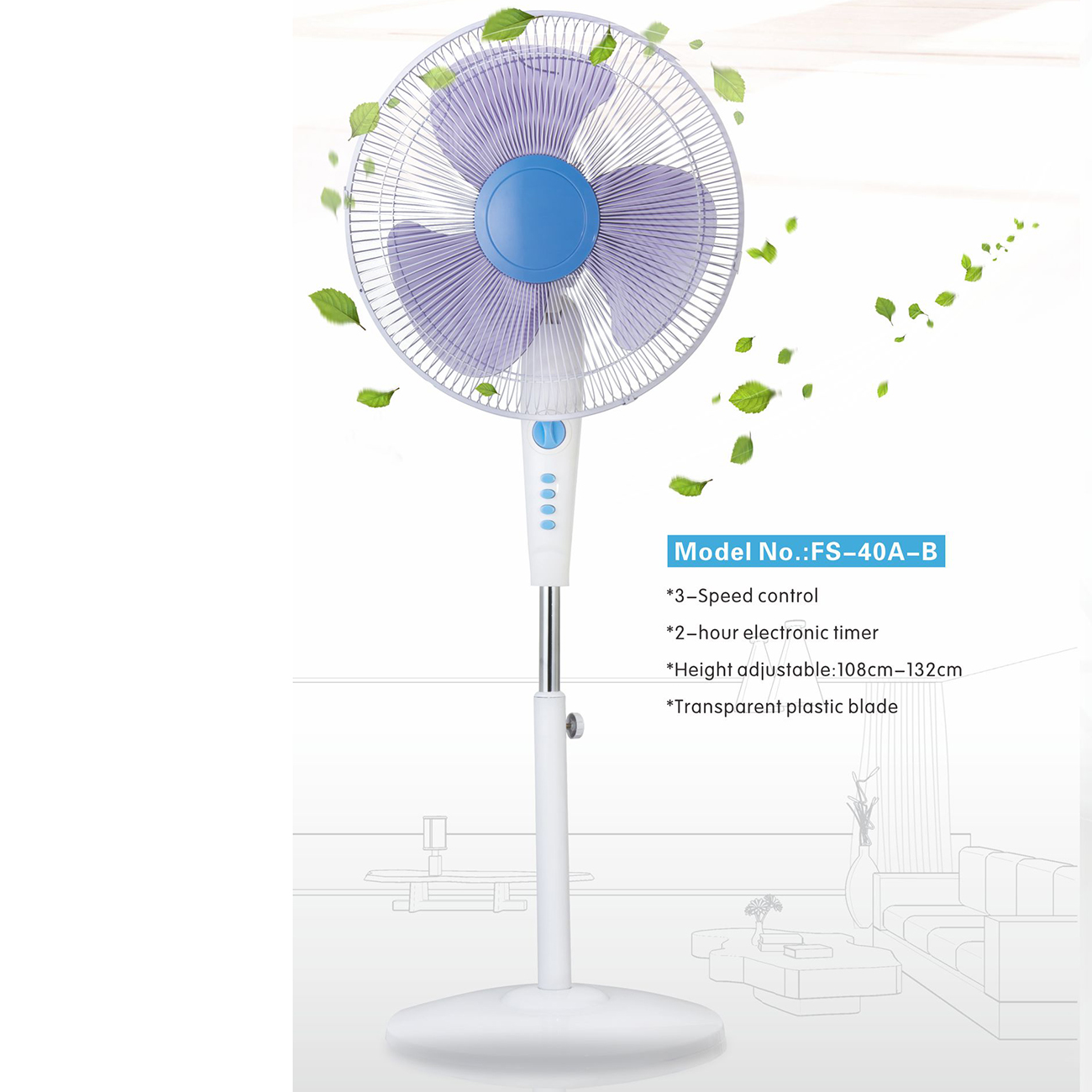Full Copper motor 16 Inches Electric Stand Fan with Timer