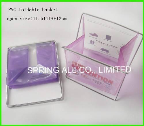 Foldable small pvc sundry basket