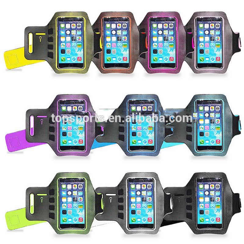 Wholesale custome neoprene sports armband,elastic armband for Iphone 6 Plus/Sumsung/Lenovo