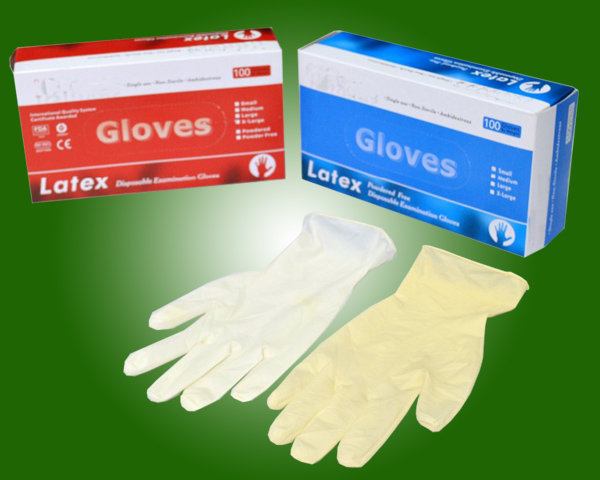 Disposable Medical Latex Medical Gloves/Disposable sterile Latex Surgical Examination Gloves/ Medica