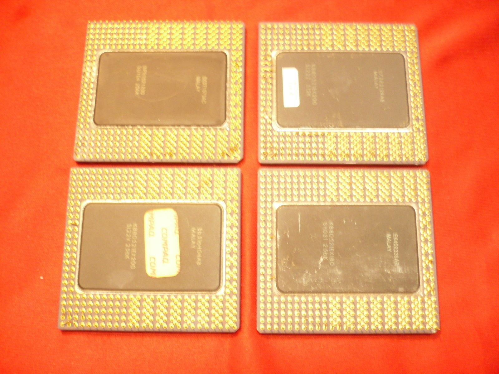 Intel i960 Ceramic Gold Cap Processor, Ceramic Processor, Gold Cap CPU Chips, Pinned Processors, Pro