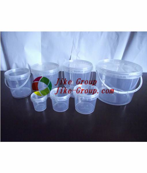 Gallon ice cream clear plastic bucket food grade gallon plastic clear bucket with handles