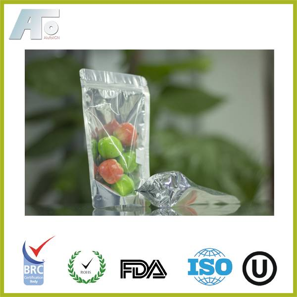 Foil Bag with Resealable Zipper