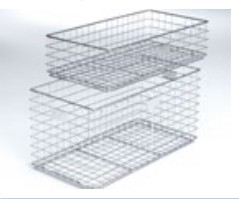 DIN wire basket