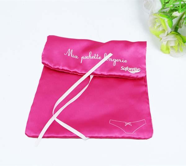 satin travel storage bag for underwear