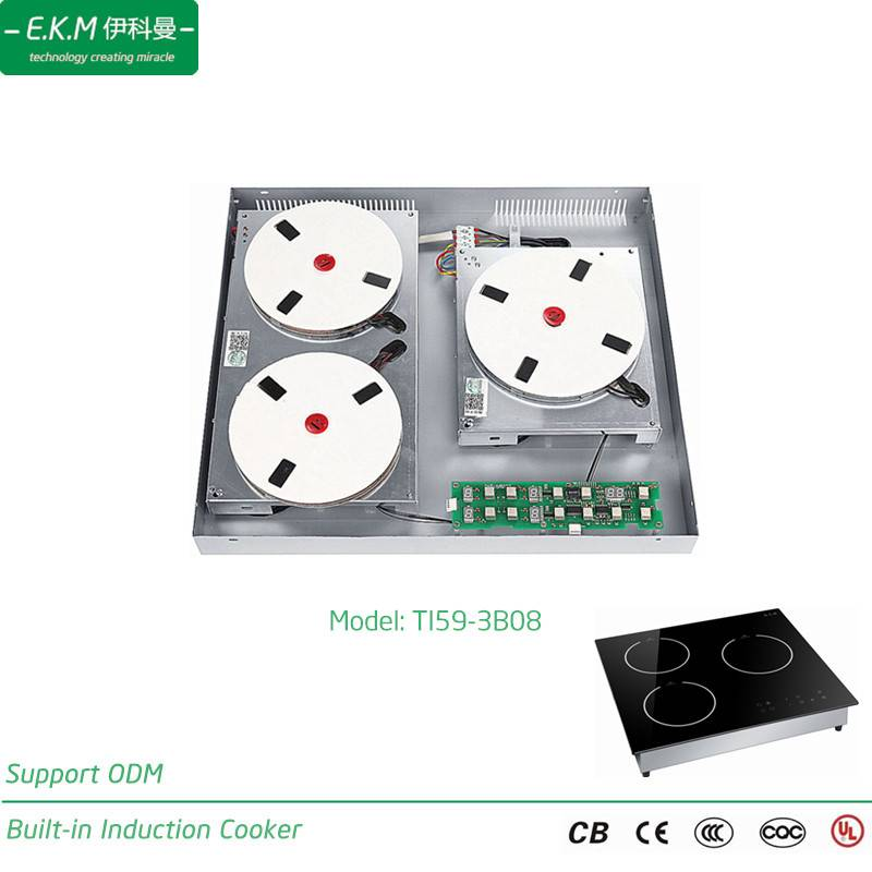 Ekm Built-in Three Burner Induction Cooker, 5900W, Can Use 5 Years (TI59-3B08)