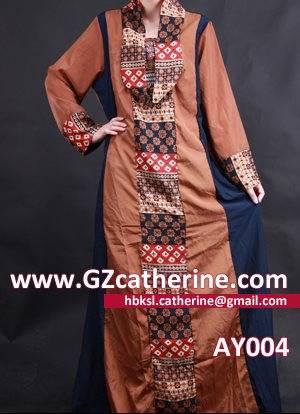 Latest Cheap Fashion Apricot Dubai Abaya Casual Kaftan