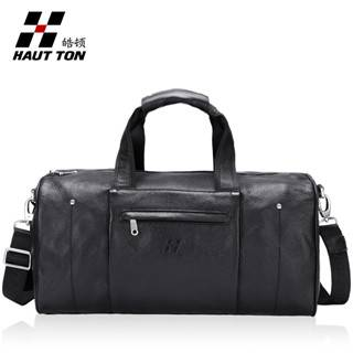 Hautton Brand Big Travel Leather Bag Men Carrying Bag DB62
